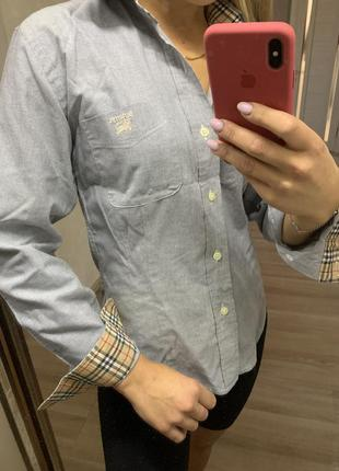Burberry or london рубашка винтажная