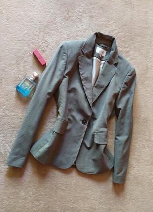 Стильный качественный клетчатый пиджак блейзер