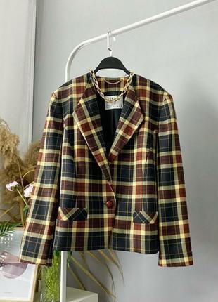Винтажный пиджак жакет с плечиками 100% шерсть pure new wool separa