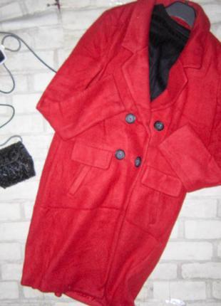 Крутое яркое пальто бойфренд