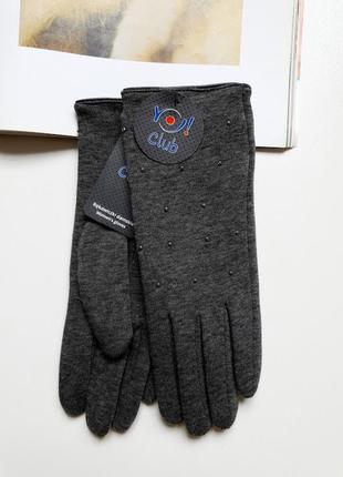 Женские элегантные рукавички с утеплением yo club!