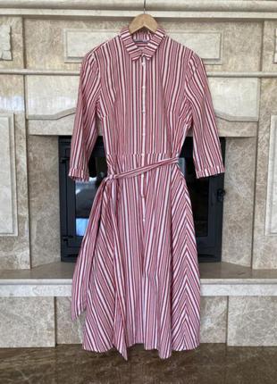 H&m платье рубашка в полоску из натуральной ткани h&m asos manro