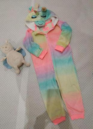 Кигуруми, пижама райдужный единорог primark в отличнейшем состоянии на рост 110 см 4-5 лет