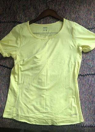 Спортивна футболка reebok лимонна світло-жовта