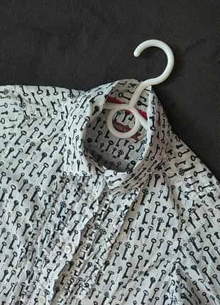 Стильная интересная рубашка  блузв в школу fager beaver