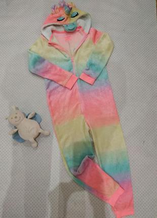 Кигуруми пижама райдужный единорог primark в отличнейшем состоянии на рост 152-158 см 12-13 лет