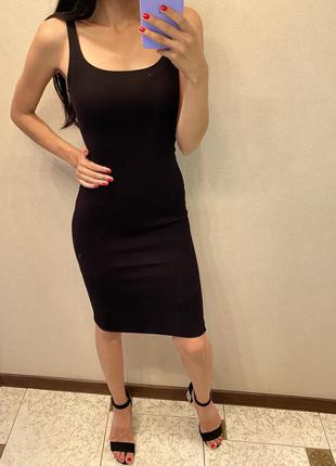 Платье bershka черное