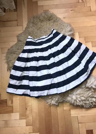 Юбка женская, котоновая юбка, спідниця в полоску жіноча,женская юбка zara спідниця