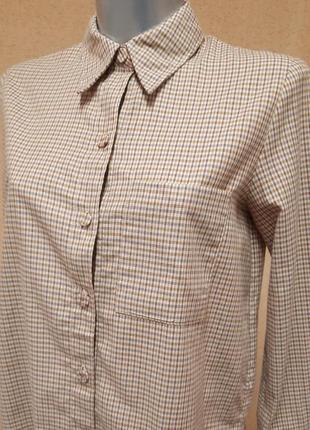 Коттоновая рубашка в клетку mango