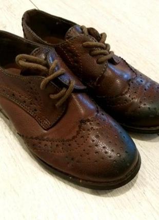 Кожаные туфли туфельки