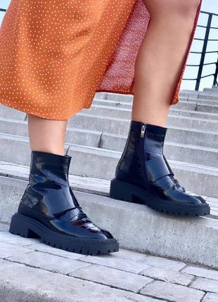Шикарные ботинки на байке натур кожа