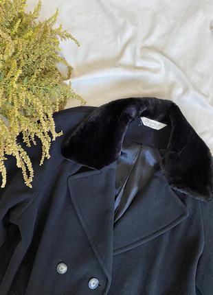 Длинное  винтажное шерстяное оверсайз пальто
