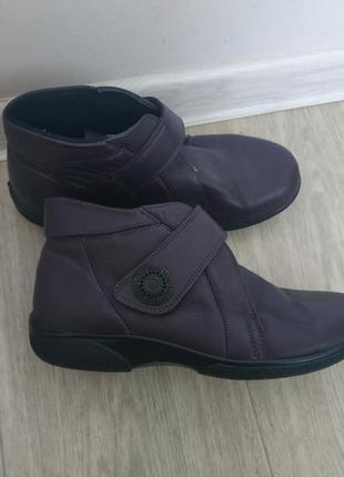 Кожаные ботинки р.38 кожа