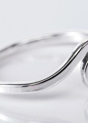 Кольцо минимализм серебристого цвета 17 размер