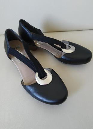 38 р. rieker кожаные туфли сандалии сабо