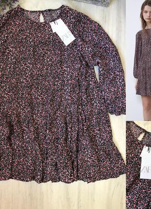 Платье в цветах zara платье zara