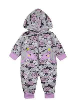 Комбінезон ясельний для дівчинки до 86 см. дитячий одяг