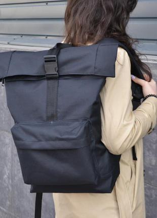 Рюкзак ролл топ. дорожная сумка, сумка для похода из ткани.