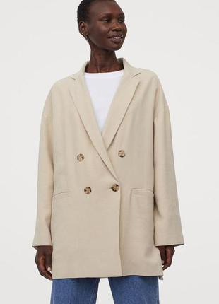 Новый пиджак, жакет h&m, модель оверсайз. размер s-m-l