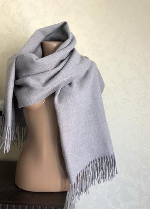 Теплый обьемный шарф палантин