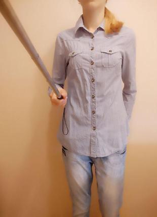 Рубашка в полоску на заклепках 👚