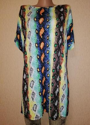 Красивая, яркая женская трикотажная футболка, блузка 18 размера papaya