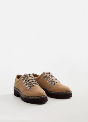 Трендовые туфли из натуральной замши mango