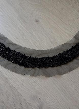 Нашывка бусы на платье бисер горловина обмен продажа