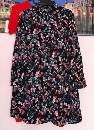 Туніка в квіти , платья рубашка