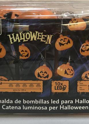 Светодиодная гирлянда ( хеллоуин)  « тыква» melinera германия