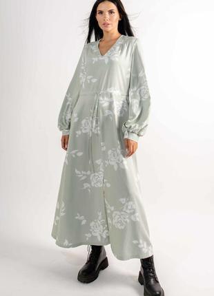 """Платье """"несси"""" светлая оливка"""