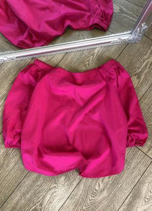 Жіноча блуза рожевого кольору з відкритими плечиками