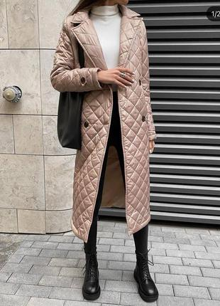 Пальто с подкладом , осеннее пальто , стеганая куртка