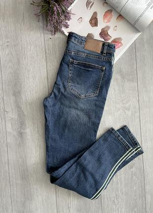 Стильні джинси opus skinny jeans ely green stripe
