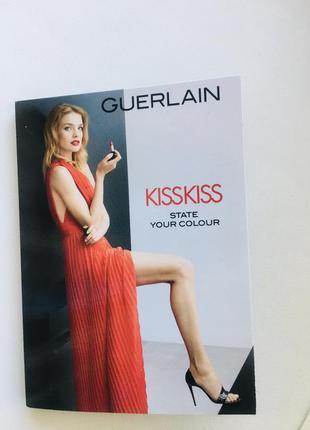Помада guerlain kiss kiss три оттенка в пробнике