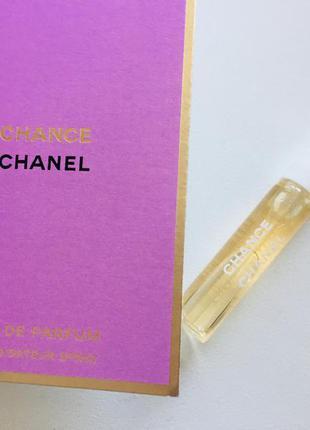 Культовый аромат chanel chance парфюмерная вода пробник 2мл