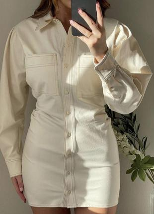 Платье рубашка из денима от zara