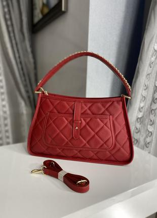 Итальянская кожаная стёганная сумка leather country