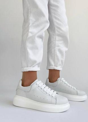 🔥 кожаные белые кеды кроссовки 🔥