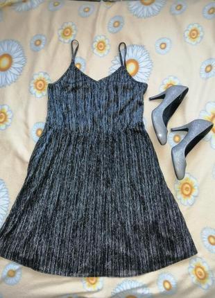 Платье вечернее серебро