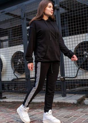 Спортивний костюм оверсайз without lampas 21 woman reflective black