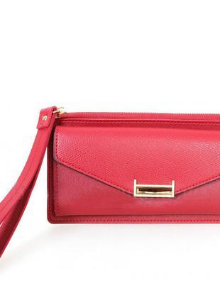 910710801 женский кошелек из эко-кожи красный