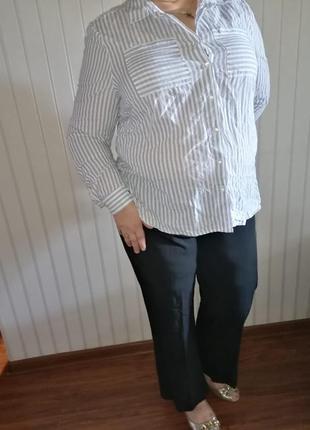 Рубашка в полоску натуральная.