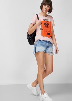 Шорты джинсовые с замками по бокам в стиле zara