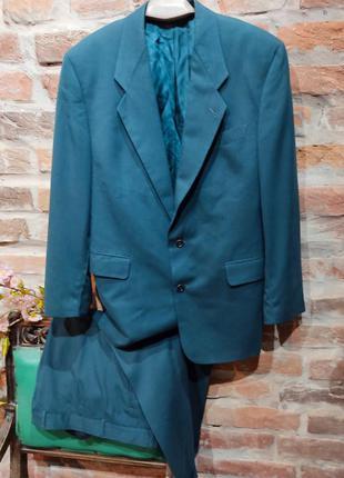 Невероятный винтажный брючный костюм. 💯% шелк