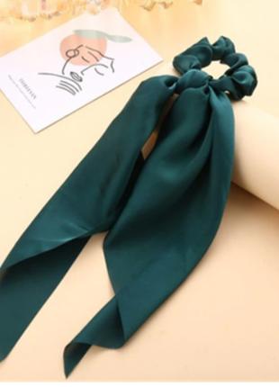 Резинка-платок изумрудный цвет тренд лета 2021 / большая распродажа!