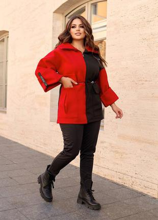 Курточка черно красная 48-70 размер