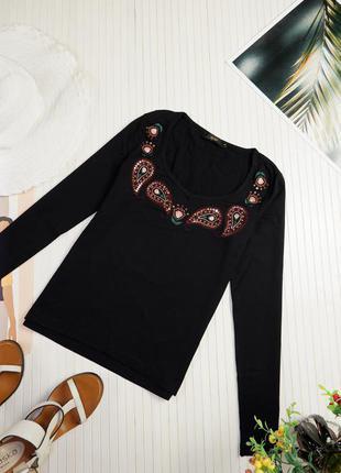 Реглан сша gilli cos черный однотонный украшен с вышивкой пайетки кофта женский cos m&s свитер