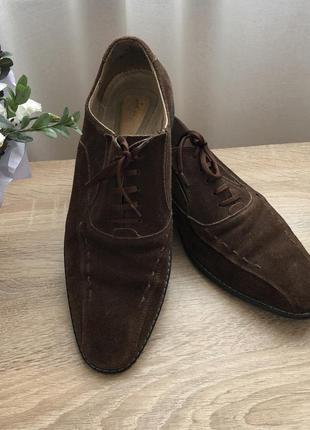 Туфли мужские натуральная кожа натуральная замша 42 43