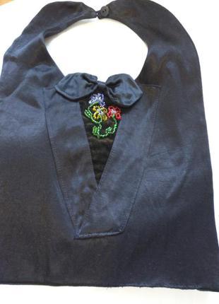Нюанс⚡колье манишка воротничек текстиль винтаж